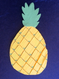 Made New Arts working with clay. Pineapple.