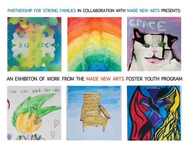 Made New Arts, Foster Kids and Art, Art Programs to empower kids in the foster system, Adopt kids, Partnership for Strong Families,
